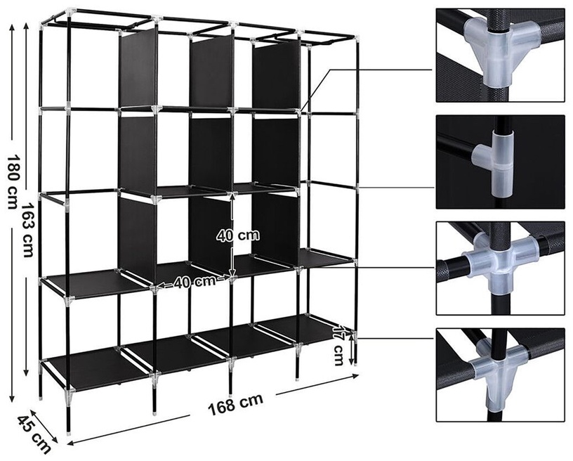 Skapis Songmics, 168x45x180 cm