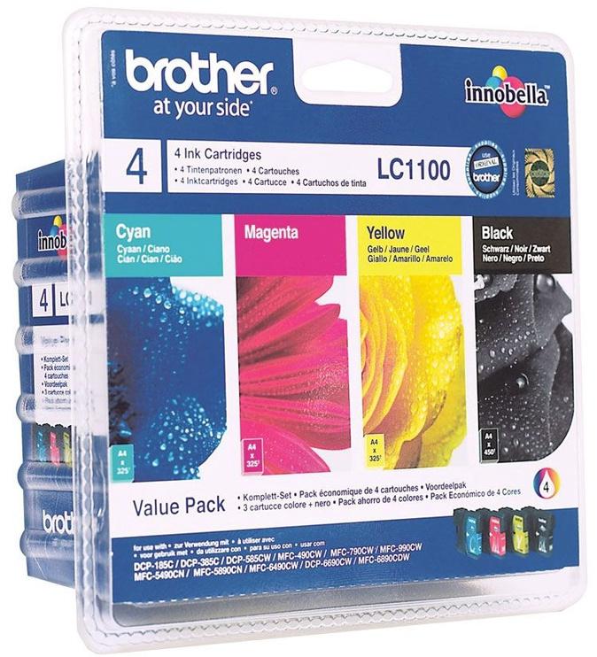 Rašalinio spausdintuvo kasetė Brother LC1100 Multipack