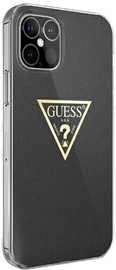 Guess Metallic Collection Back Case For Apple iPhone 12/12 Pro Black