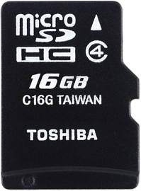 Toshiba M102 16GB microSDHC Class 4 + Adapter
