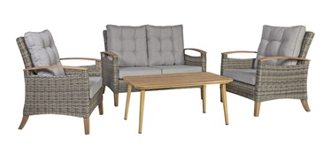 Home4you Prato Garden Furniture Set Brown/Grey