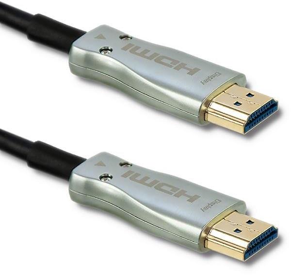 Qoltec HDMI Cable v.2.0 A Male to HDMI A Male AOC 20m Black/Silver