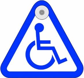 Наклейки SN Car Sticker Disabled Sign 1/07153