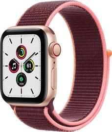 Išmanusis laikrodis Apple Watch SE GPS LTE + Cellular, 40mm Aluminum Plum Sport Loop, aukso