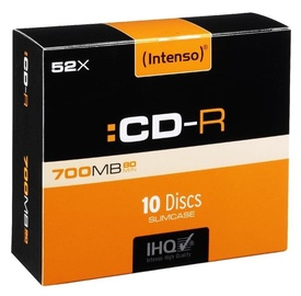 Intenso CD-R 52X 700MB 10P Slim case