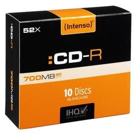 Накопитель данных Intenso CD-R 52X 700MB 10P Slim case