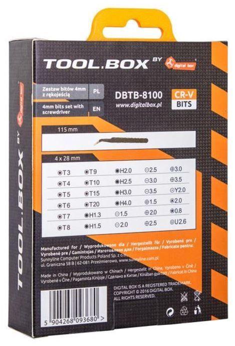 Digitalbox Tool Box 4 mm Bits Set With Handle