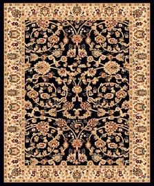 Ковер Mutas Carpet 2723b_h0115, черный, 150x100 см