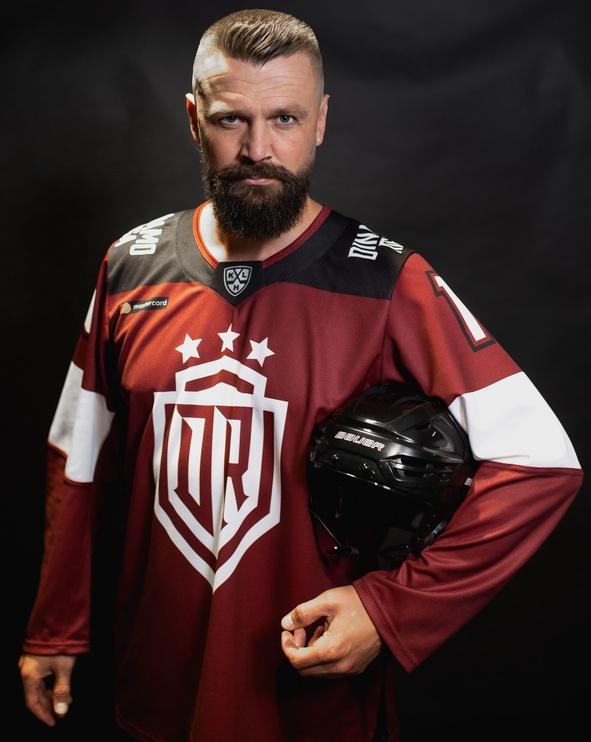 Футболка с длинными рукавами Dinamo Rīga Hockey Fan Shirt Indrašis XL