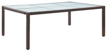 Садовый стол 46128, прозрачный/коричневый