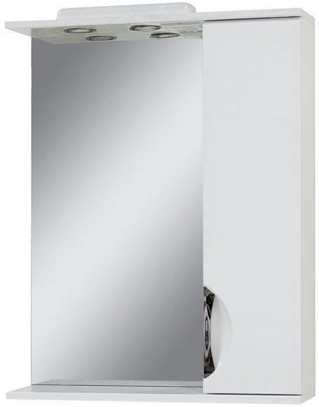 Vannas istabas skapītis Sanservis Laura-65 White 65x83x17.5cm Right
