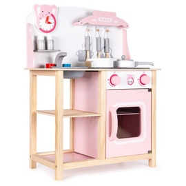 EcoToys Wooden Kitchen With Sounds Pink
