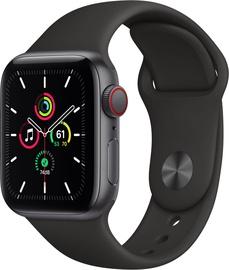 Išmanusis laikrodis Apple Watch SE GPS LTE + Cellular, 44mm Aluminum Black Sport Band, pilka
