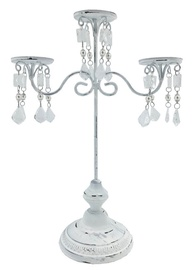 Home4you Eva Candlestick for 3 Candles Antique White