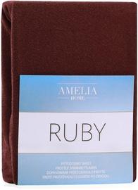Palags AmeliaHome Ruby, brūna, 90x200 cm, ar gumiju