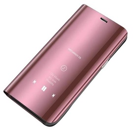 Hurtel Clear View Case For Samsung Galaxy A70 Pink