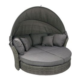 Home4you Muse-2 Sofa With Canopy Grey
