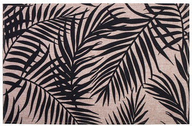 Home4you Linen 30x45cm Black Leaves
