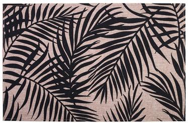 Home4you Linen 30x45cm Black Leaves