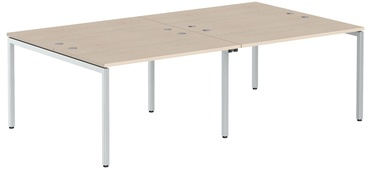Skyland Xten-S Office Desk XWST 2414 Tiara Beech/Aluminium