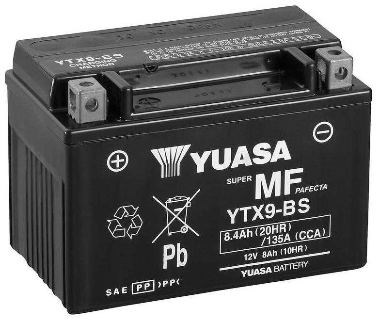 Аккумулятор Yuasa YTX9-BS, 12 В, 8 Ач, 135 а