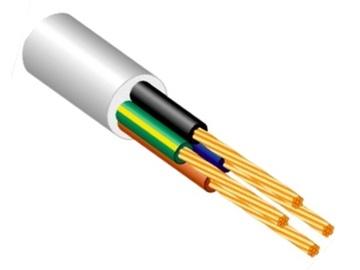 Elektros instaliacijos kabelis Lietkabelis BVV-F/OWYŽO, 5 x 6 mm²