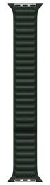 Ремешки Apple 45mm Sequoia Green Leather Link - S/M, темно-зеленый
