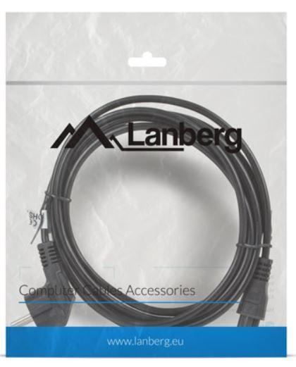 Lanberg Cable IEC320 C5 / Schuko 3m Black