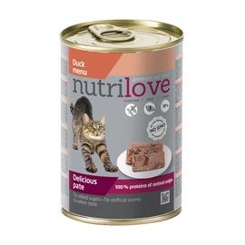Konservuotas ėdalas katėms Nutrilove Delicious Pate, su antiena, 400 gr
