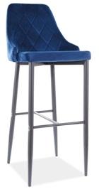 Барный стул Signal Meble Trix B H-1 Velvet, синий/черный