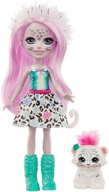 Lelle Mattel Enchantimals Sybill Snow Leopard & Flake GJX42