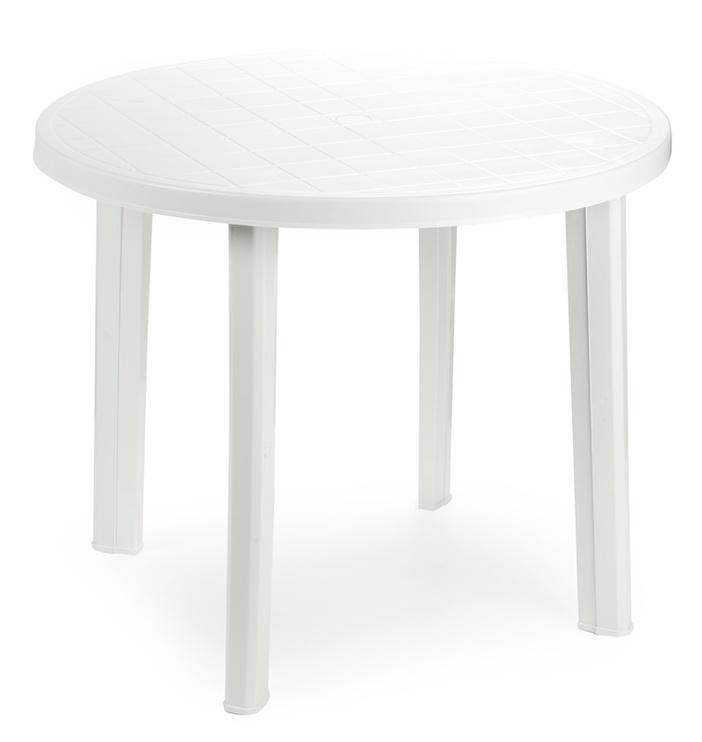 Lauko stalas Diana Tondo 90600, baltas, 90 x 90 x 72 cm