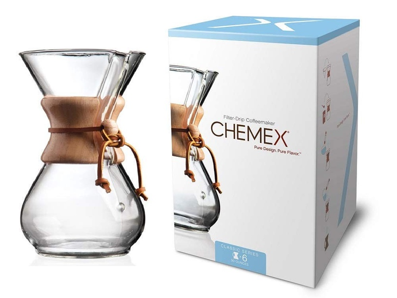 Chemex Wood Neck Coffee Maker 0.9l