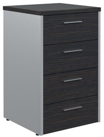 Skyland Offix New Drawer Cabinet OLC-4D.1 Legno Dark/Metallic
