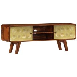 TV galds VLX Solid Sheesham Wood 246345, brūna, 300 mm x 1200 mm x 450 mm