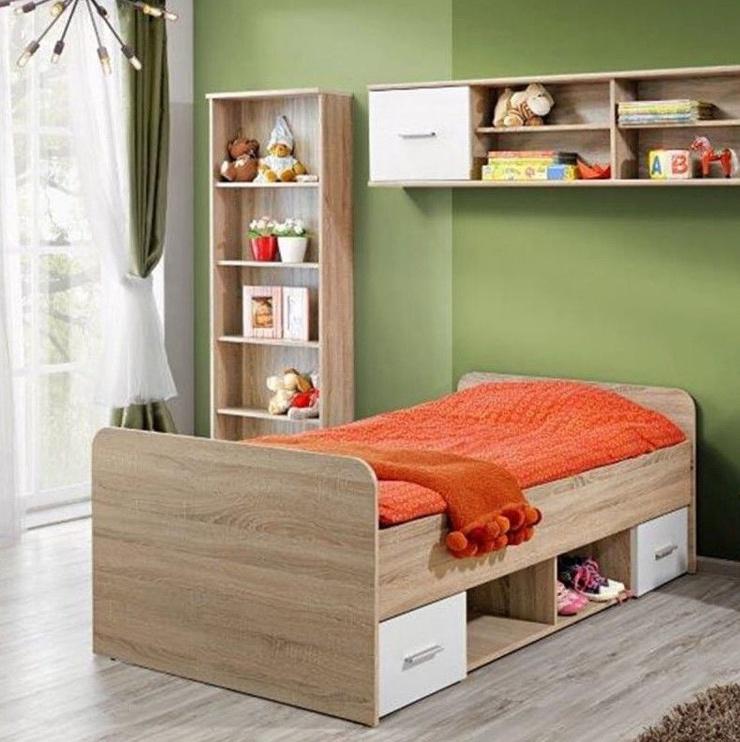 Bērnu gulta ASM Dino Sonoma Oak, 204x96 cm