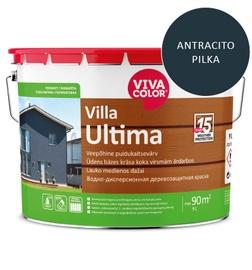 Dažai lauko medienai Villa Ultima, antracito pilki, 9L