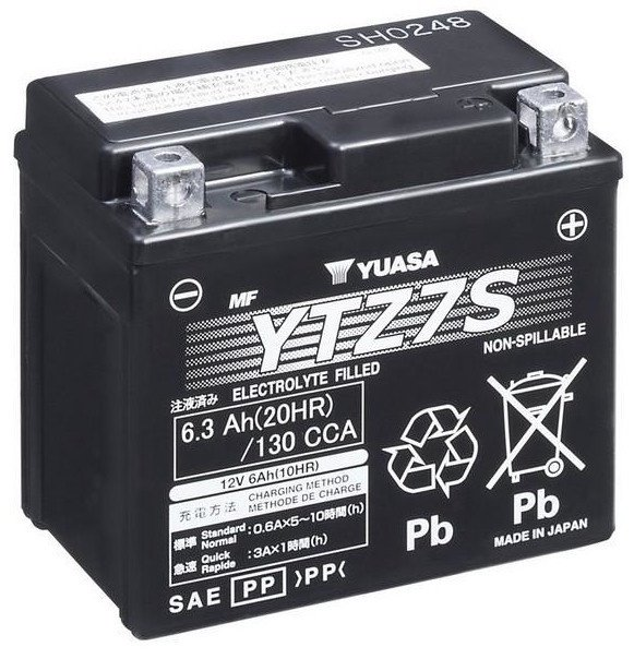 Аккумулятор Yuasa YTZ7S, 12 В, 6 Ач, 130 а
