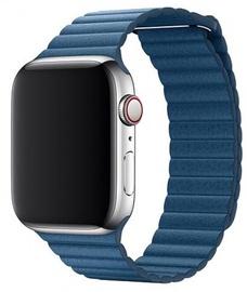 Devia Elegant Leather Loop For Apple Watch 44mm Blue