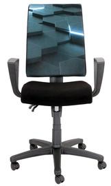 Black Red White Proxima Virtual Swivel Chair Dark