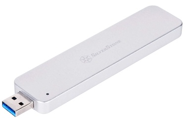 SilverStone External Enclosure MS09 M.2 SSD Silver