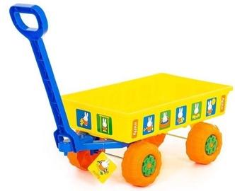 Smilšu kastes rotaļlietu komplekts Polesie Wheelbarrow, dzeltena