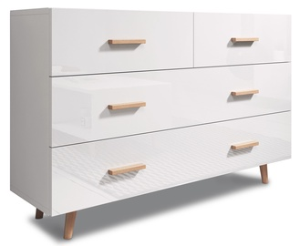Vivaldi Meble Sweden Chest of Drawers White/White Gloss