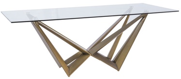 Signal Meble Aston Table 100x200cm Transparent/Copper