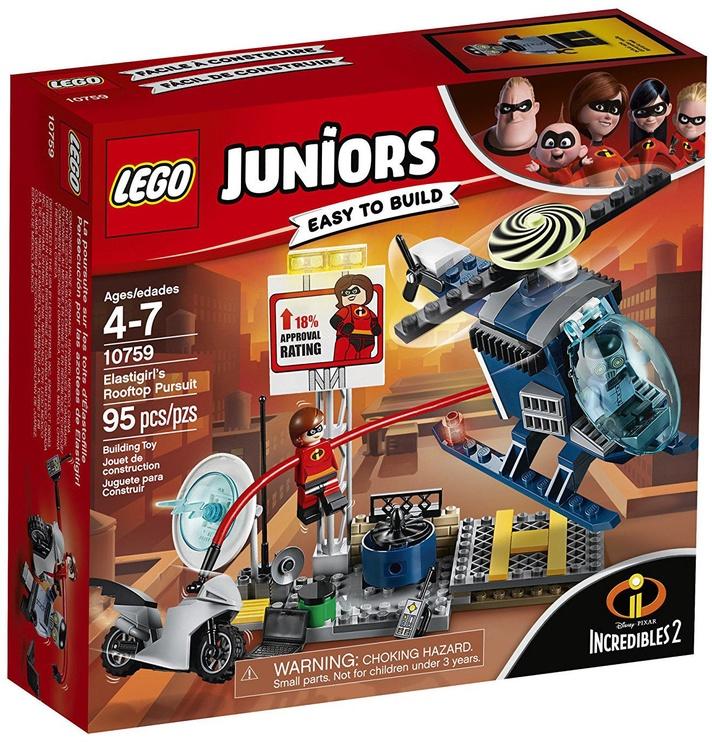 Конструктор LEGO Juniors Elastigirls Rooftop Pursuit 10759 10759, 95 шт.
