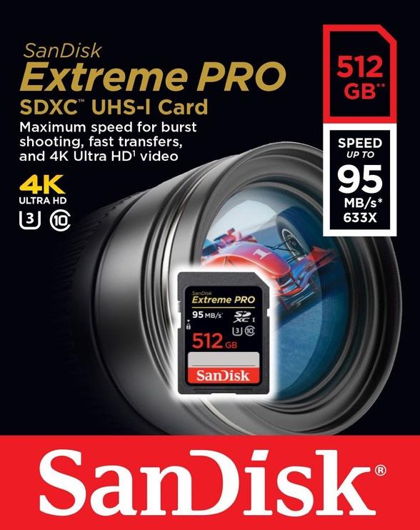 SanDisk 512GB Extreme Pro SDXC UHS-I U3