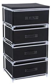 Комод Songmics, черный, 45x35x84.5 см