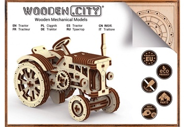Wooden City Puzzle Tractor 164pcs