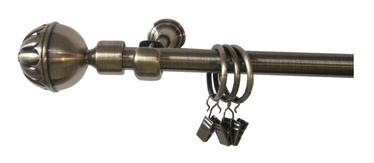 Aizkaru stangu komplekts Futura F511887, D16, 180cm, 1-rindu, zelta