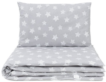 MamoTato Bedding Set Stars Pilka 2 vnt.